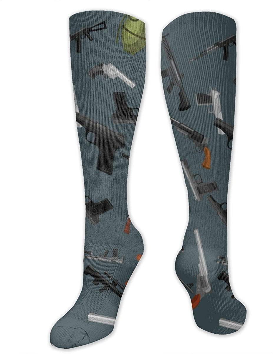 Military Gun Athletic Socks Thigh Stockings Over Knee Leg High Socks