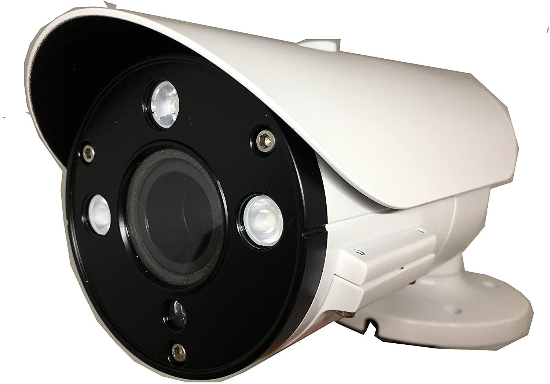 101AV 2.1Megapixel CMOS Image Sensor in/Outdoor Security Bullet Camera 1080P True Full-HD 4 in 1(TVI, AHD, CVI, CVBS) 2.8-12mm Lens DWDR OSD Camera (White)