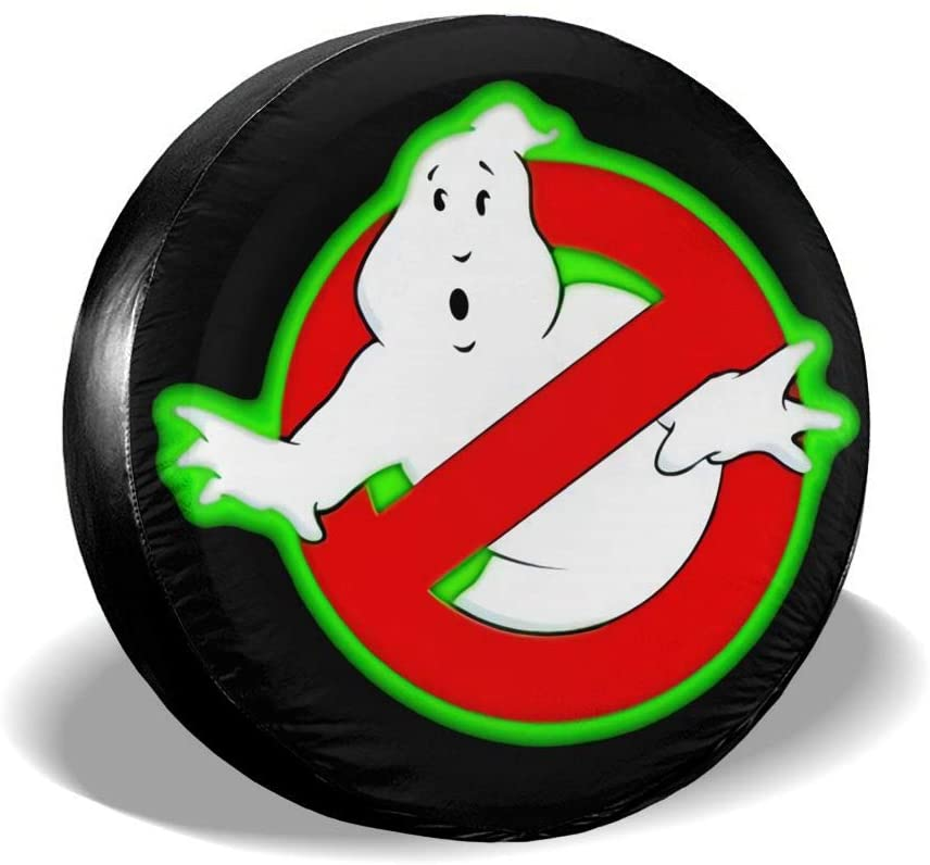 Wehoiweh Ghostbusters Spare Wheel Tire Cover Universal Fit for Jeep/Trailer/Rv/SUV