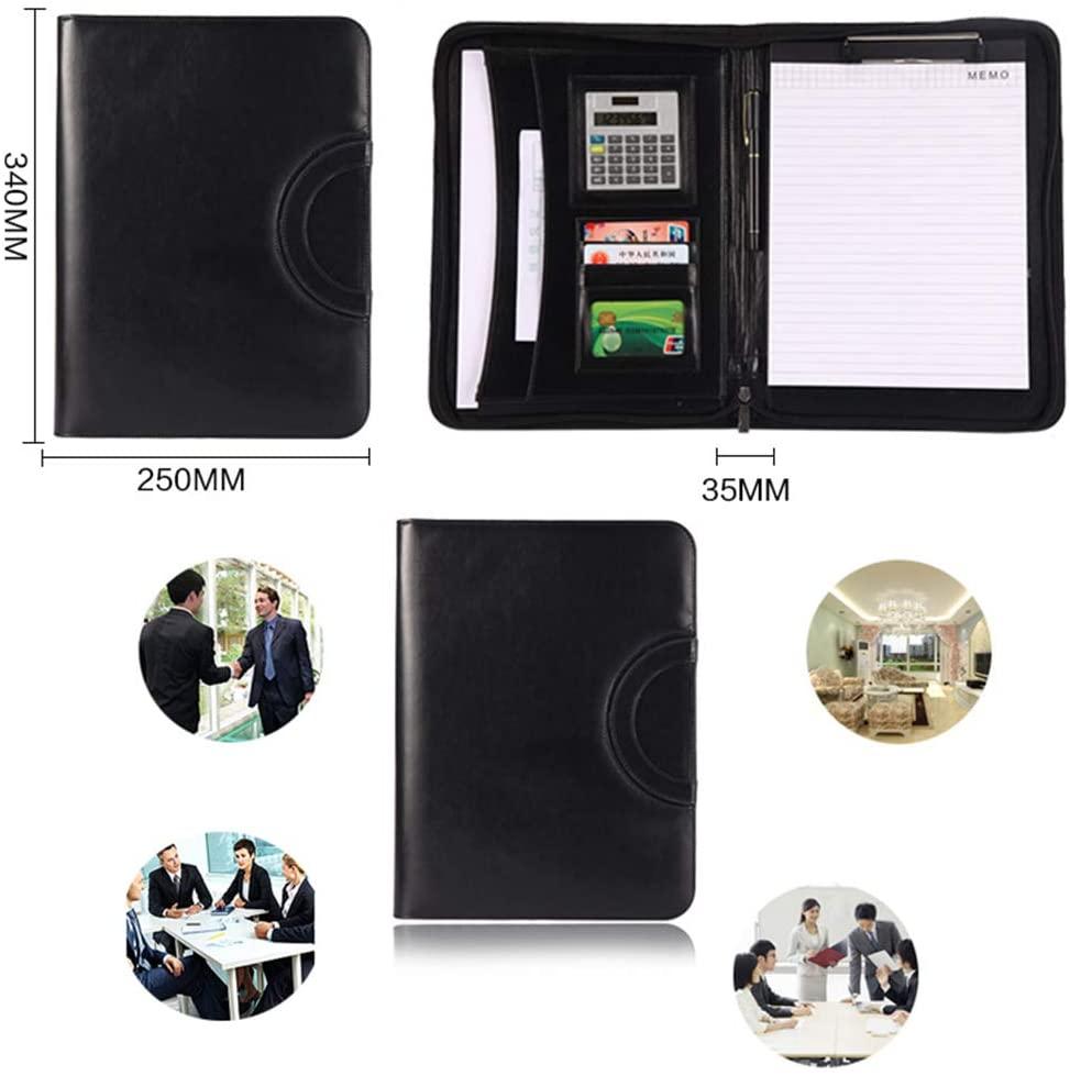 A4 Multi-Function Portable Zipper Bag Folder Manager Folder Sales Folder Calculator