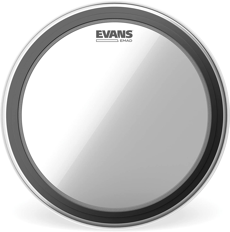 Evans EMAD Clear Tom Hoop Drum Head, 16 Inch