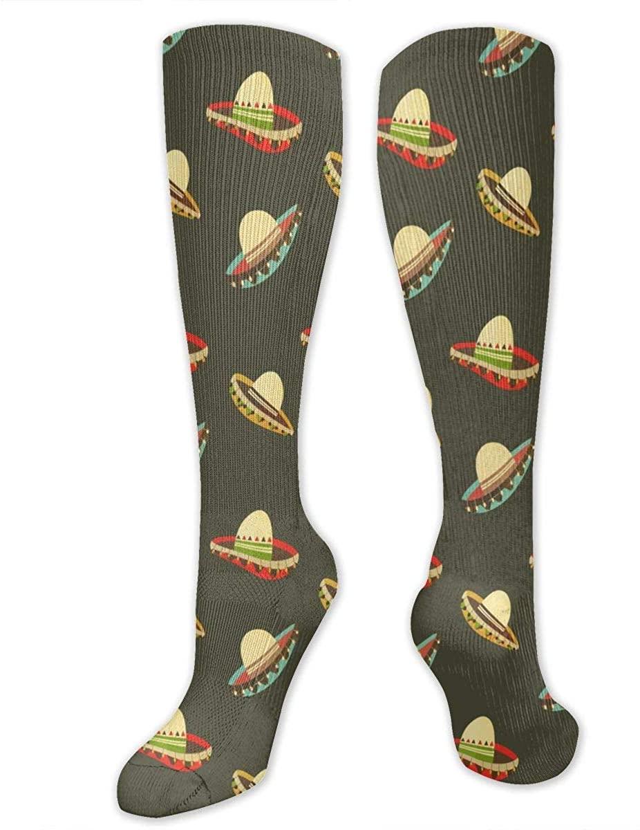 Mexican Hat Athletic Socks Thigh Stockings Over Knee Leg High Socks