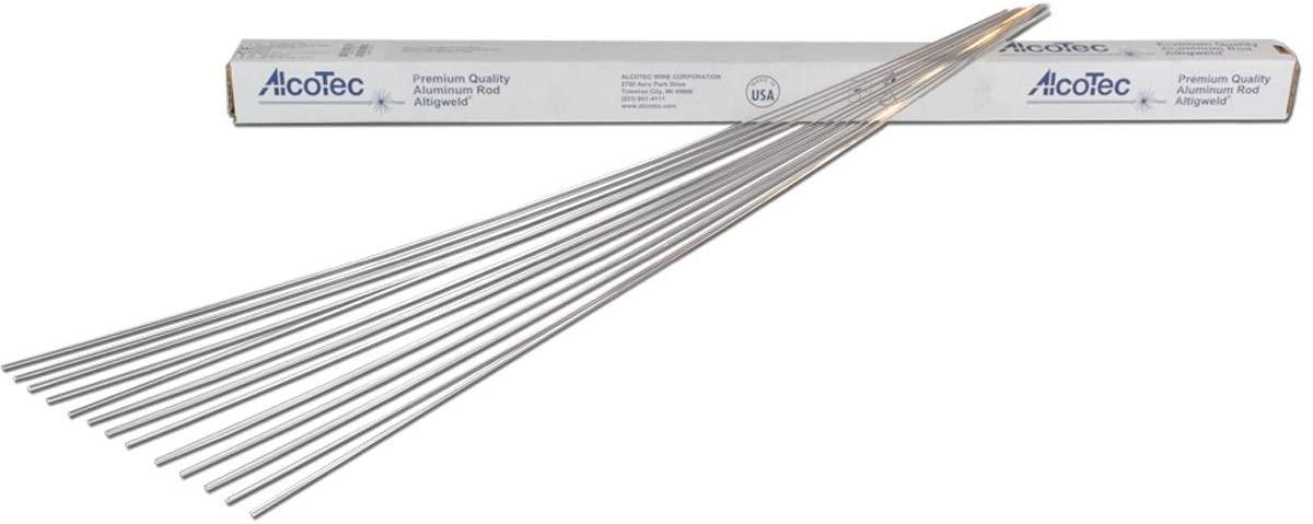 1/8 X 36 ER4047 AlTIGweld Aluminum TIG Rod 10 lb, Package Size: 10 US pound