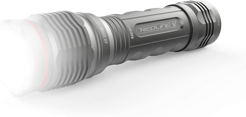 NEBO TOOLS 6639-Redline V 500 Lumen Flashlight with 5 Modes and 4X Zoom