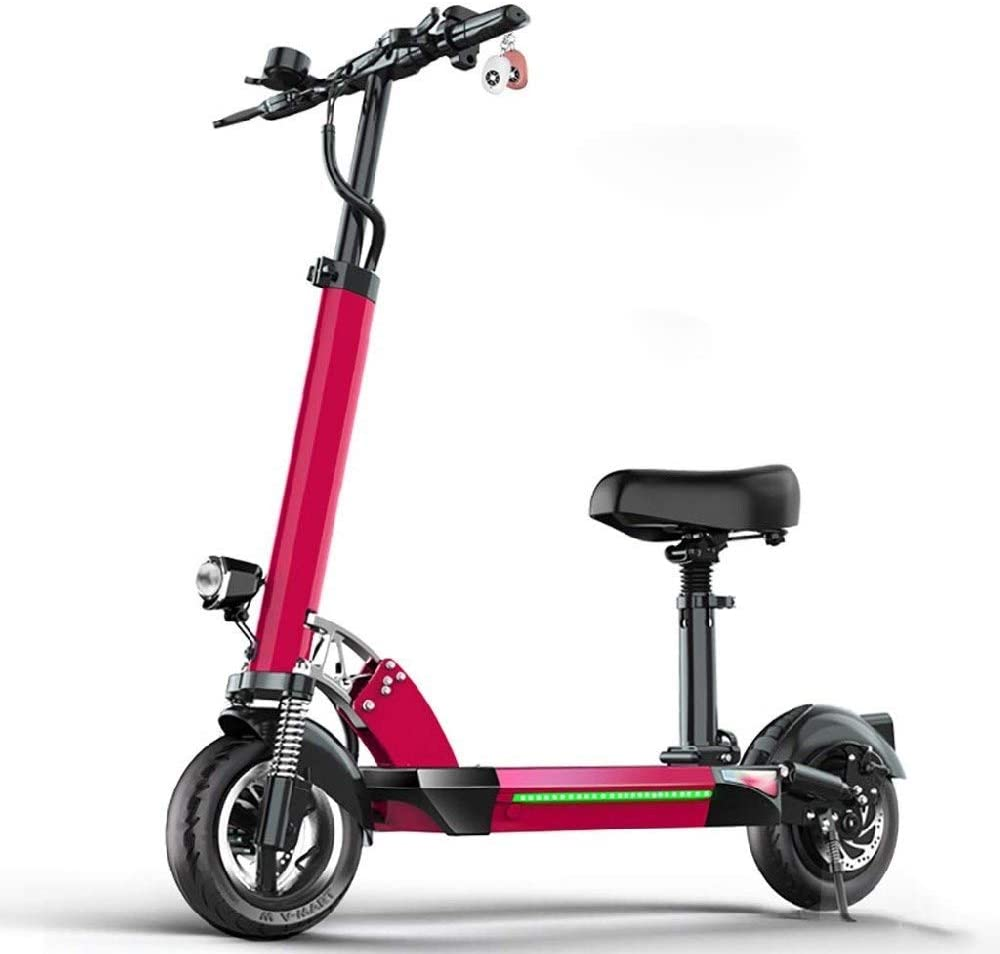 CHENJIU Commuter-Shaped Electric Scooters, Handle and Seat Height Adjustable 500W Motor 10-inch Tire Maximum Speed 50km / H