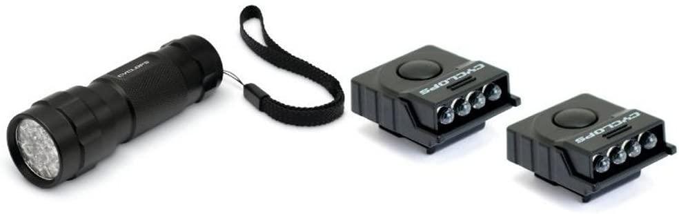 Cyclops Flashlight combo CYC-FLHC Flashlight 14 LED flashlight, 2 hat clips