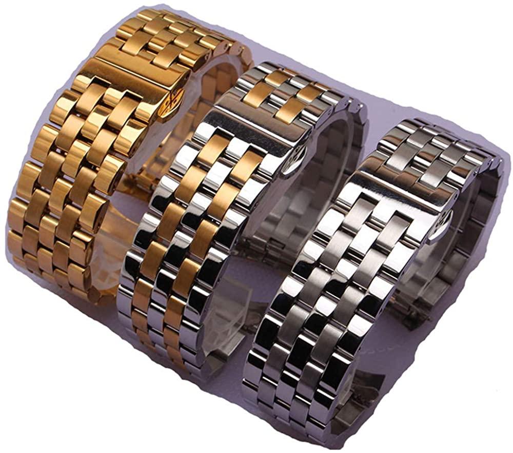 Curved Ends watchbands Strap Bracelet Black Silver Gold Rosegold Watch Bands 16mm 18mm 20mm 22mm 24mm for Men Women Wrist Watch Accessories New