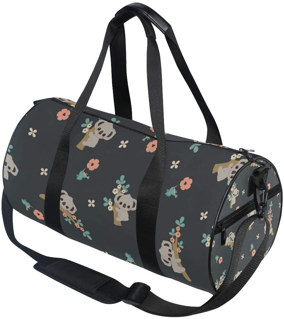 Cute Koala Travel Duffle Bag Sports Luggage Bag with Backpack Tote Gym Bag for Man and Women