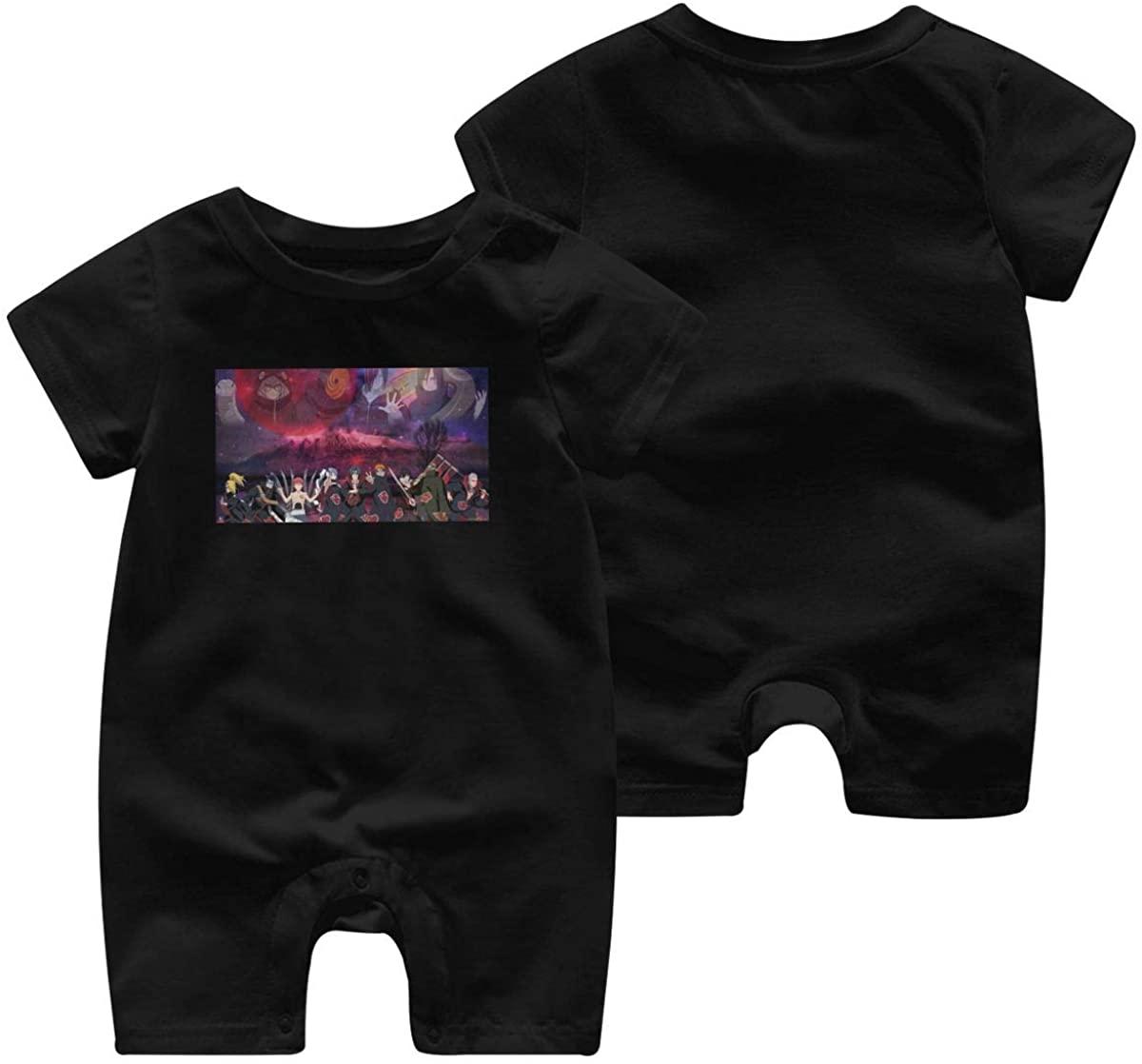 Gbyuhjbujhhjnuj Baby Naruto Graphic One-Piece Organic Cotton Cute Infant Short Sleeve Romper
