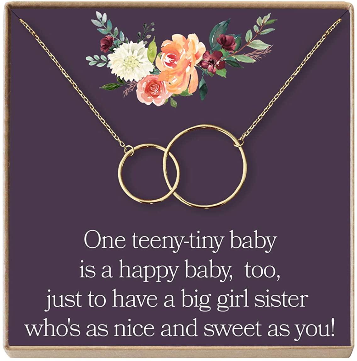 Dear Ava Big Sister Gift Necklace, Sister Birthday Gift, Sisterhood, Sorority Sister, Pledge, 2 Interlocking Circles