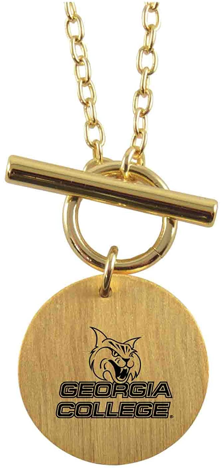 LXG, Inc. Large Charm Necklace with Toggle Bar - Georgia College Bobcats