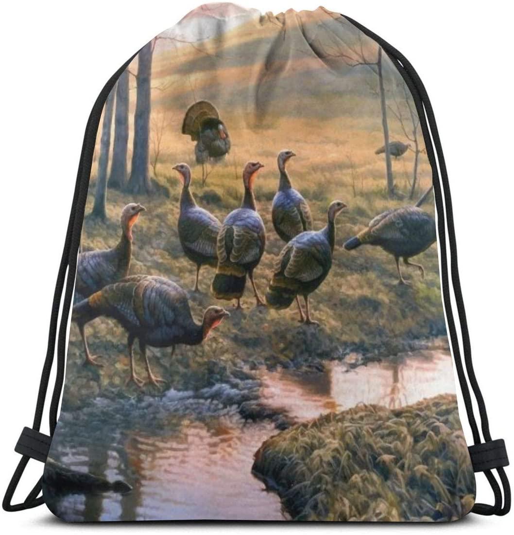 Drawstring Bags Turkish Bird Backpack Pull String Bags Bulk Sports Storage Gym For Men Outdoor Baseball Rucksack