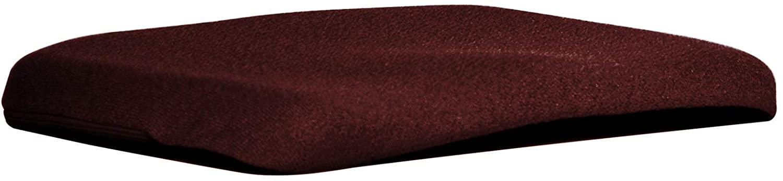 Q QUALITY BRAND COMPANY McCarty's Q-ERGOCONTOURCUSH-Win Sacro-Ease Ergo Contour Cush Ergonomic Seat Support Cushion 15x17x1 in. Wine Color