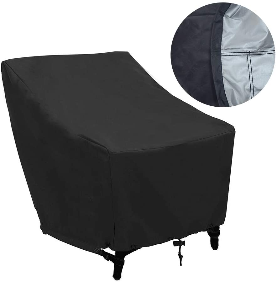 ZHINAN Patio Chair Cover, 210D Oxford Cloth Waterproof Dustproof Rain Cover | Weatherproof and Water Resistant Patio Cover for Garden Yard Outdoor Patio Furniture Protection