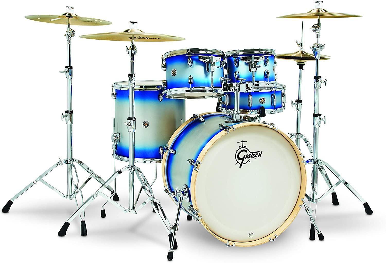 Gretsch Drums Drum Set, Blue Silver Duco (CS1-E625-BSD)