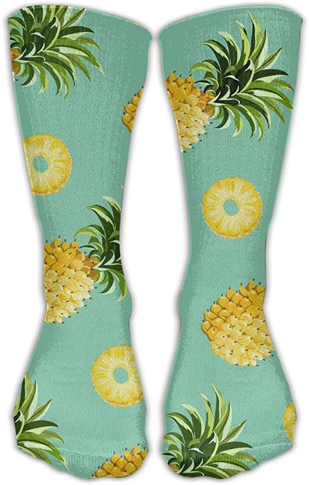 LINGMEI Unisex Be A Pineapple Cool High Athletic Stockings Long Socks Sports Outdoor One Size 30cm For Men Women