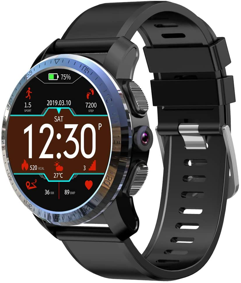 SUQIAOQIAO Kospet Optimus Dual System 4G Smart Watch 2+16G 800 Megapixel 1.39 AMOLED Touch Screen 454454