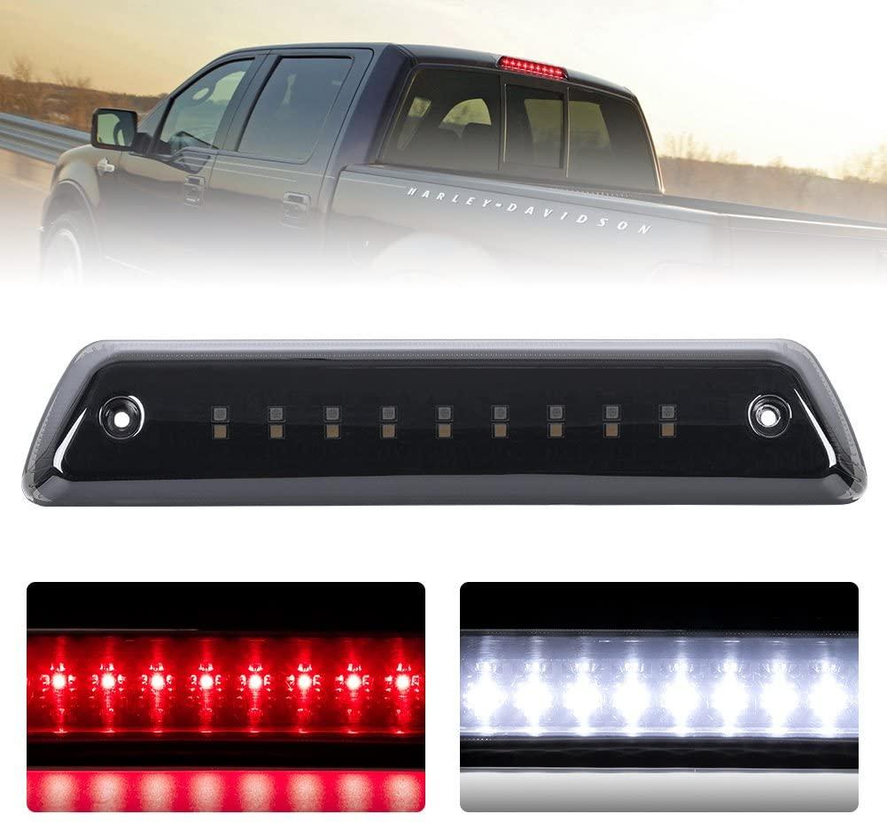 Third Brake Light/Reverse Light Smoked For 2009-2014 Ford F150 Power Saving Waterproof, 1 Year Warranty