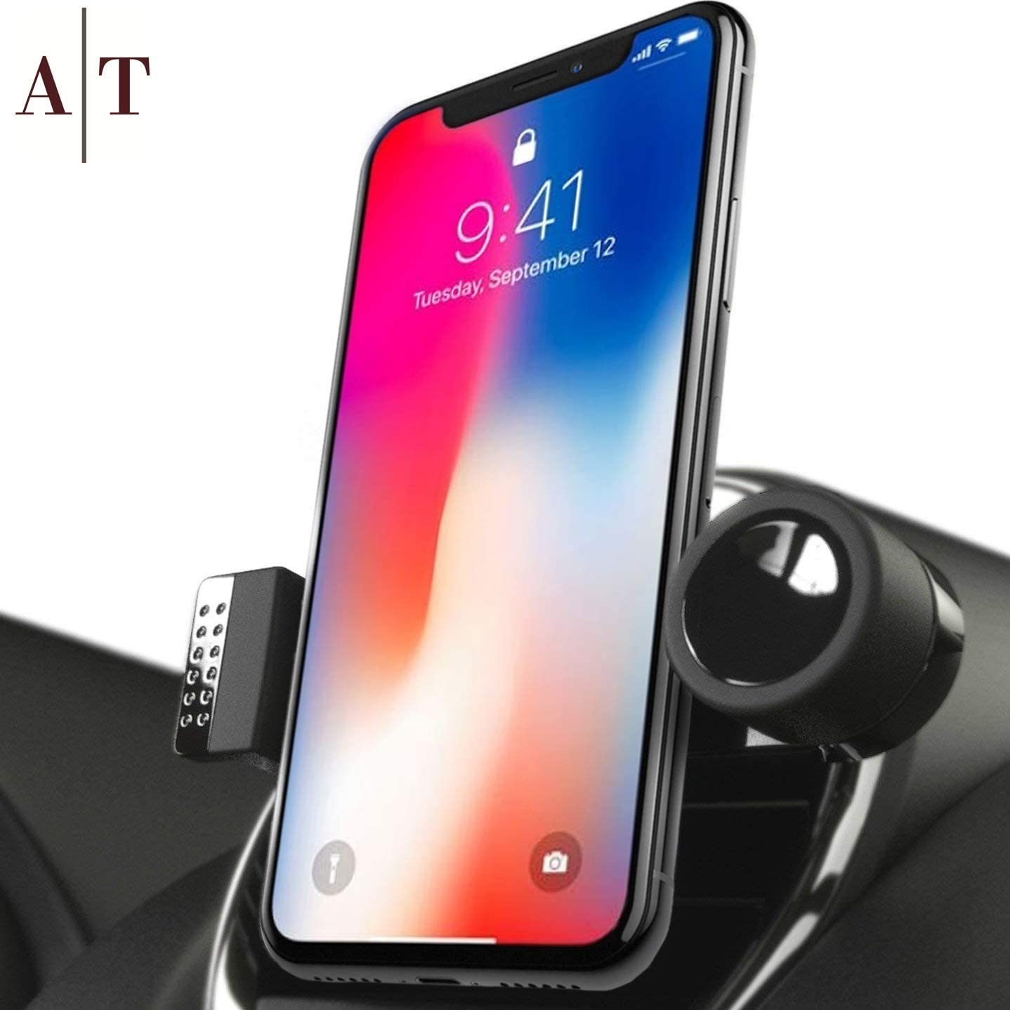 Cell Phone Holder for Car Air Vents | 360° Rotation Car Phone Mount, Fits All Smartphones - iPhone 11 Pro, 11, X, XR, XS Max, 8, 7, 6, 5, | 6/7/8 Plus | S8, S9, Note 9 | Luxury Vent Phone Holder