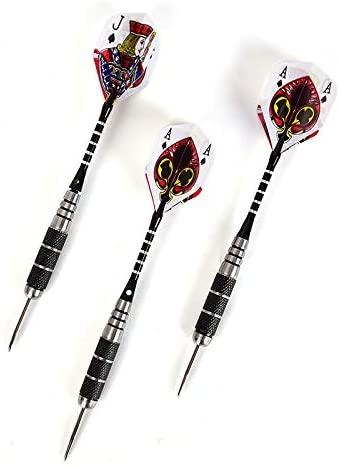 QYA 3Pcs/Set Stainless Steel Darts Tungsten Steel Needle Tip Darts with Dart Flights Sports 15.5cm