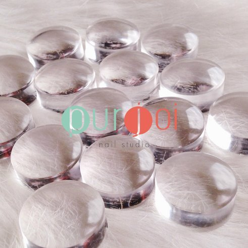 Clear Nail Art Stamper Silicone Stamping Heads Clear Jelly Stamper (1-Replacement Piece / 2.8 cm)