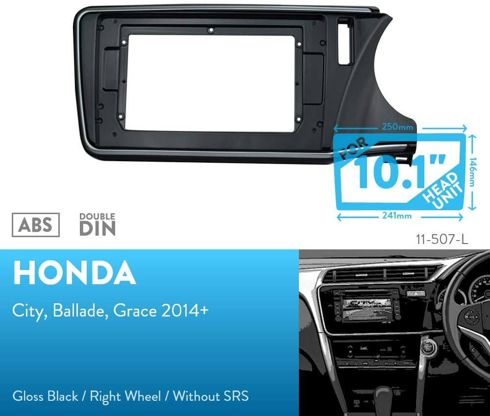 UGAR 11-507L Trim Fascia Installation Mounting Kit for Honda City, Ballade, Grace 2014+