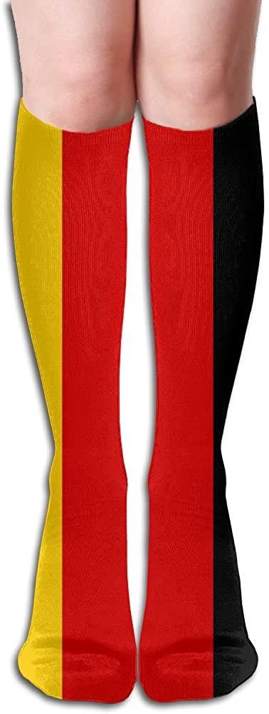 TO-JP Running Long Sports Socks German Flag Dresses Knee Thighs Stockings.