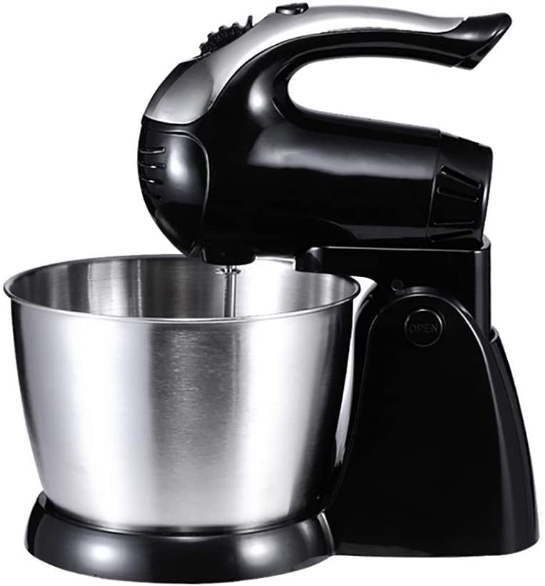 Kitchen mixer 300W kitchen mixer Elegant 3L kitchen mixer Stainless steel mixing bowl 5 Variable speed control with batter for batter for cake batter Dessert of bread and more