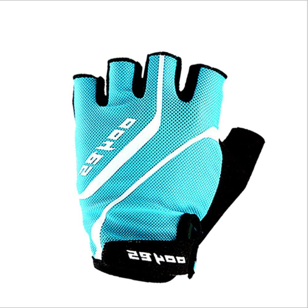 Full firepower Shock Absorbing Half Finger Riding Cycling Gloves, Breathable Lycra & Anti-Slip Shock, Absorbing Silica Gel Grip, with Anti-slip Shock-absorbing Pad Breathable Mens/Womens Gloves