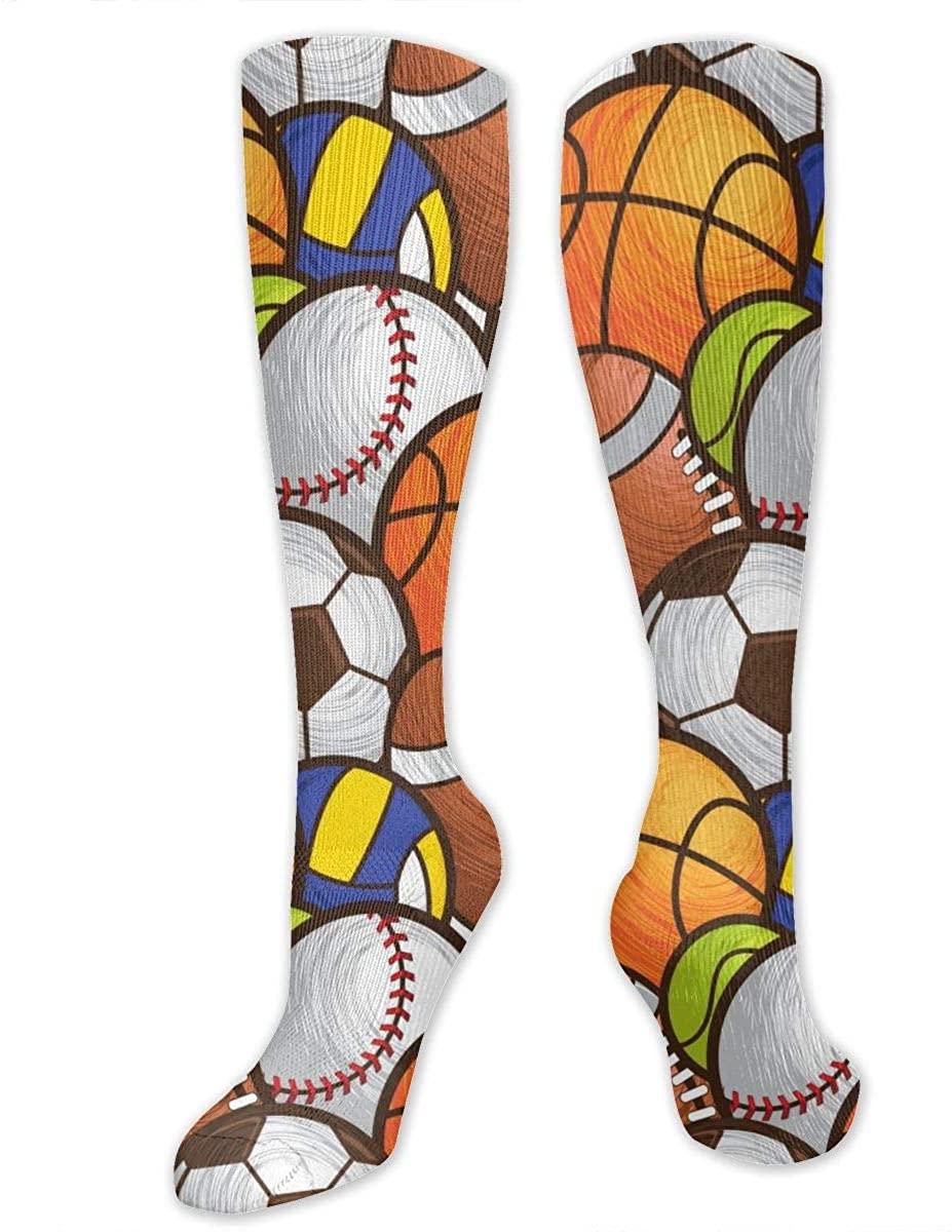 Sport Ball Athletic Socks Thigh Stockings Over Knee Leg High Socks