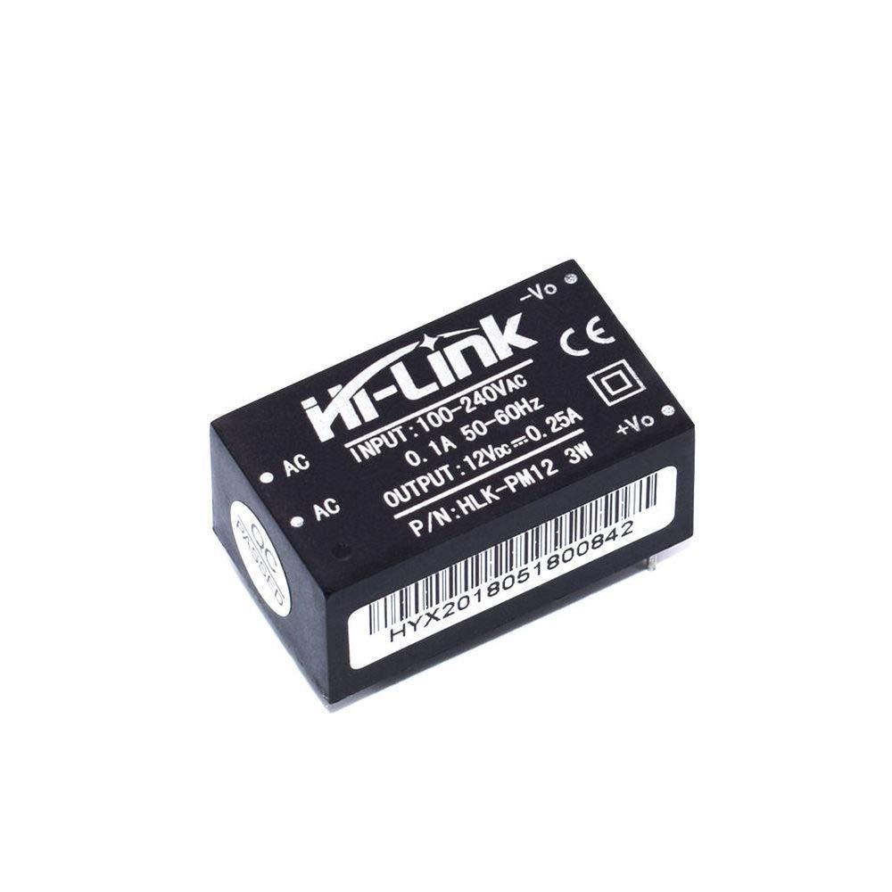 GalaxyElec 5pcs HLK-PM12 AC-DC 220V to 12V Buck Step Down Power Supply Module Converter Intelligent Household Switch HLK-PM12 UL/CE