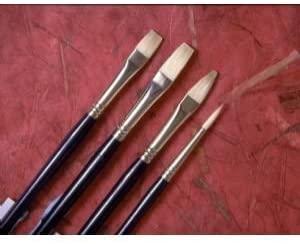 6 Pack CHINESE BRISTLE FLAT BRUSH Drafting, Engineering, Art (General Catalog)