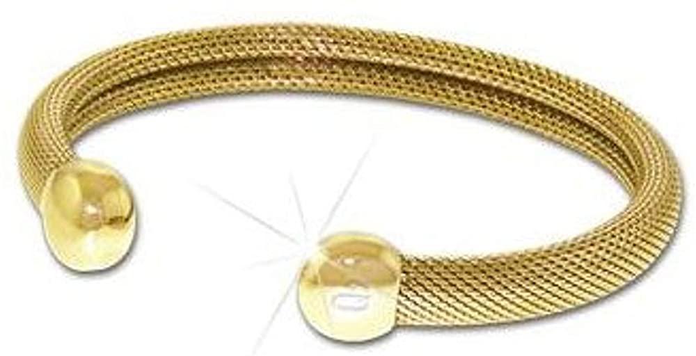 QRay Q2 Milano Mesh Goldtone Bracelet SIZE LARGE Q.Ray Q-Ray Q Ray