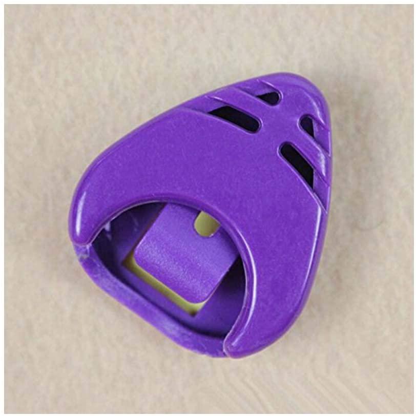 1 X Plactic Guitar Pick Plectrum Holder Case Box Mixed Colours Holder Portable