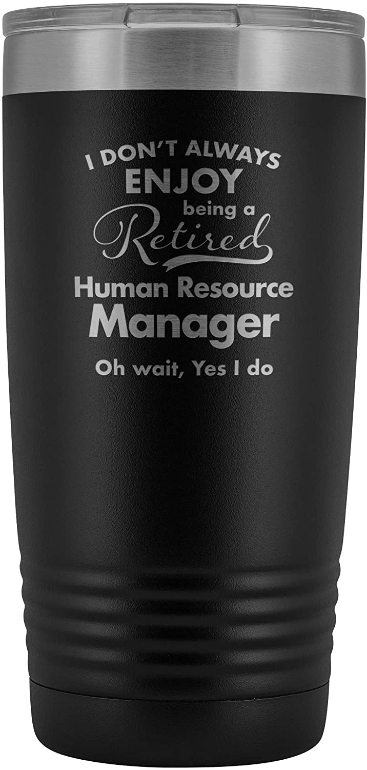 Retirement Gifts for Heavy Equipment Operator - Funny Tumbler for Retiring Retired Women Dad Mom Boss Coworker Manager Him Her Parents - Insulated Stainless Steel - 20oz - Black