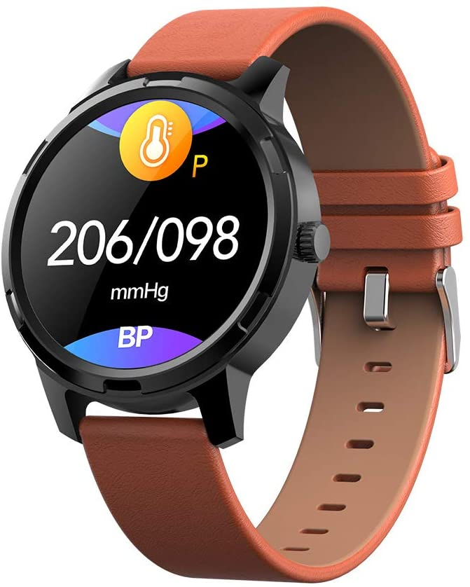 ZZW Smart Watches Waterproof Smart Watches IP67 Waterproof 1.3Inch Touch Screen Fitness Sleep Monitor Pedometer for Android & iOS,Orange
