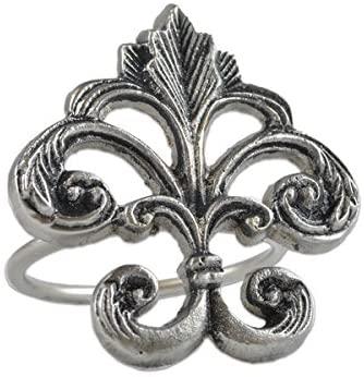 Napkin Ring - Fleur de Lis - Ornate Design - Metal