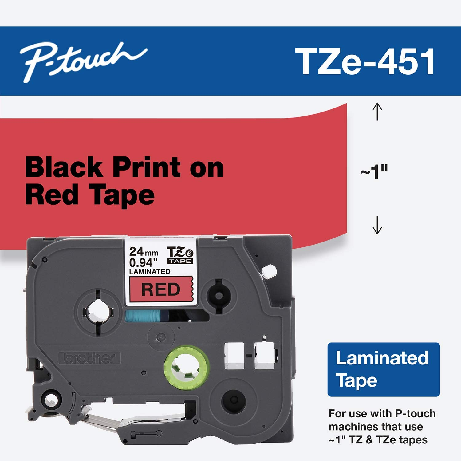 Brother Genuine P-Touch TZE-451 Tape, 1
