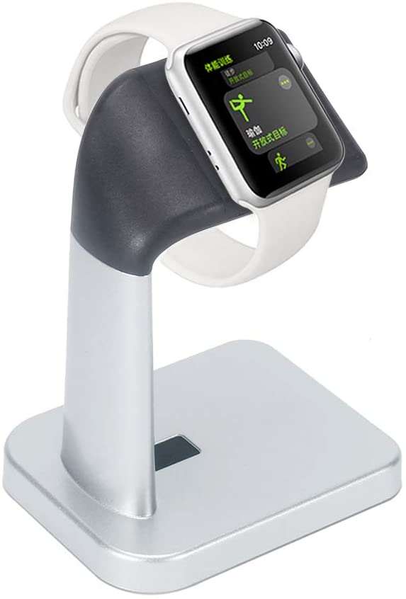 Watch Charging Stand Holder - Nightstand iWatch Charging Dock Station and Travel Accessories Dock - Compatible with Smartwatch Series 4, Series 3, Series 2, Series 1 (44mm, 42mm, 40mm, 38mm)