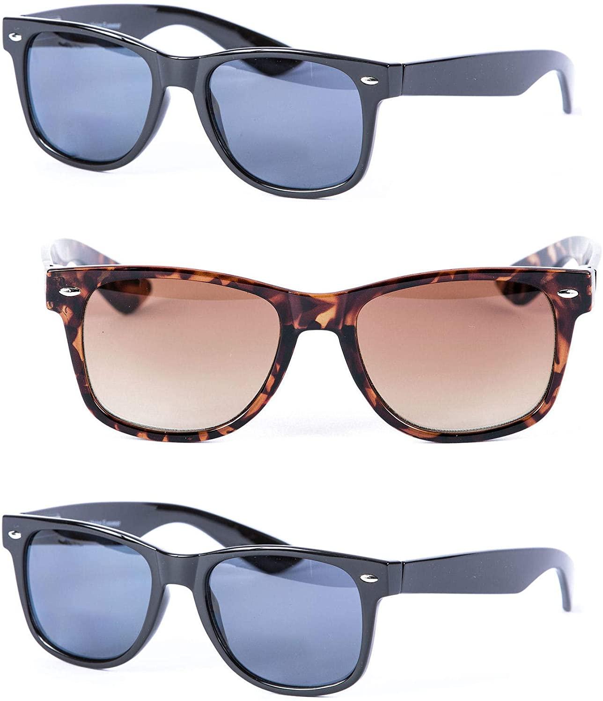 3 Pair of Unisex Reading Sunglasses - Full Frame Sun Readers (non bifocal)