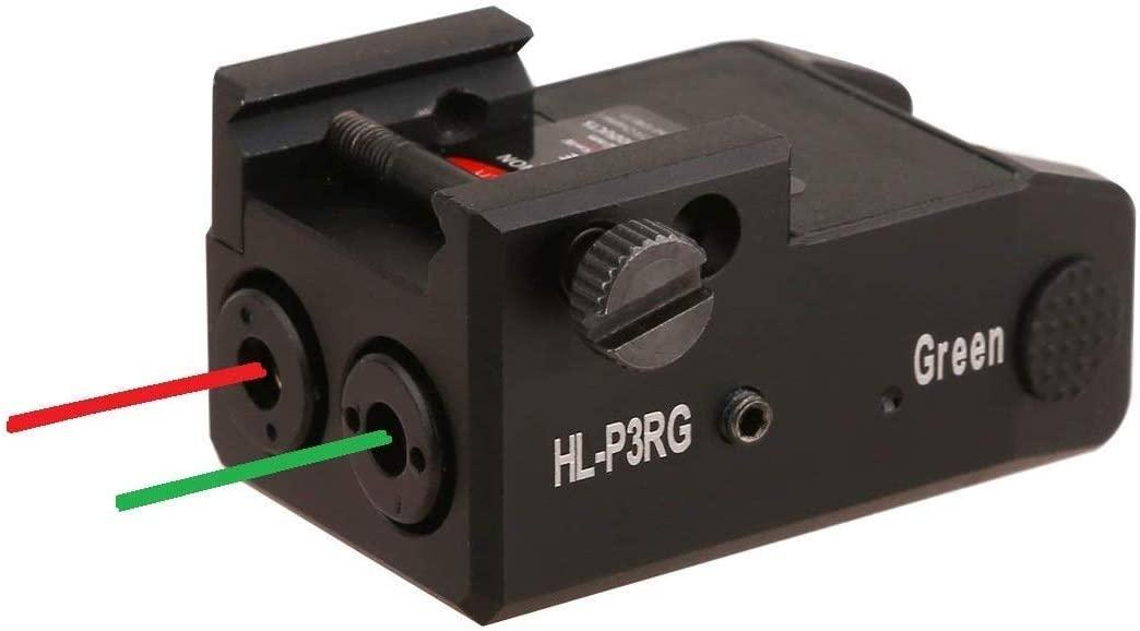 HiLight P3X Series 500 Lumen Strobe LED Flashlight for Sub-compact Pistols (Red/Green Duo Laser) (Renewed)