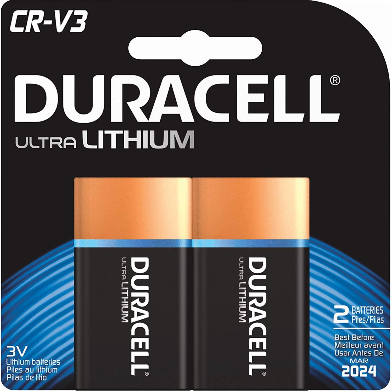 Duracell Ultra Digital Camera Battery Cr-V3 Batteries (Pack of 2)