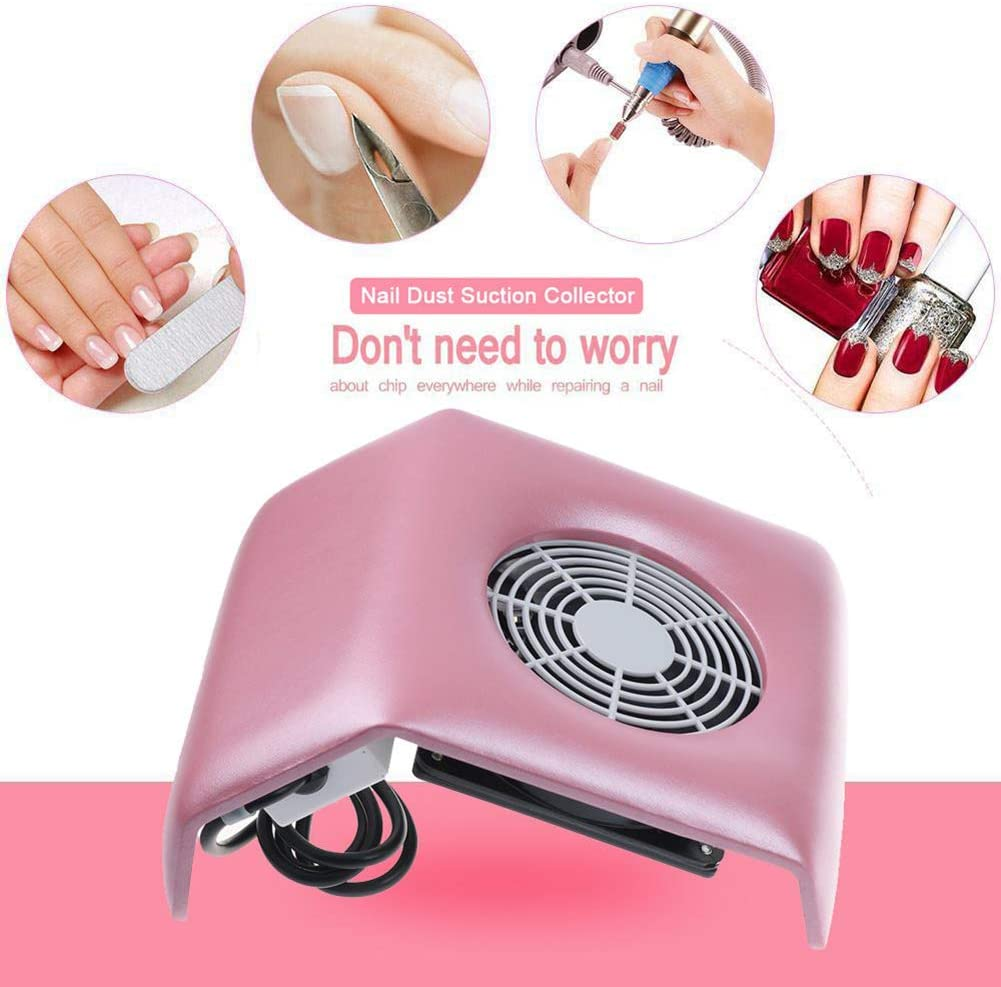 BIXINYAAN Nail Dust Collector, Powerful Nail Vacuum Cleaner Machine Manicure Tools, Practical Nail Art Salon Cleaning Equipment