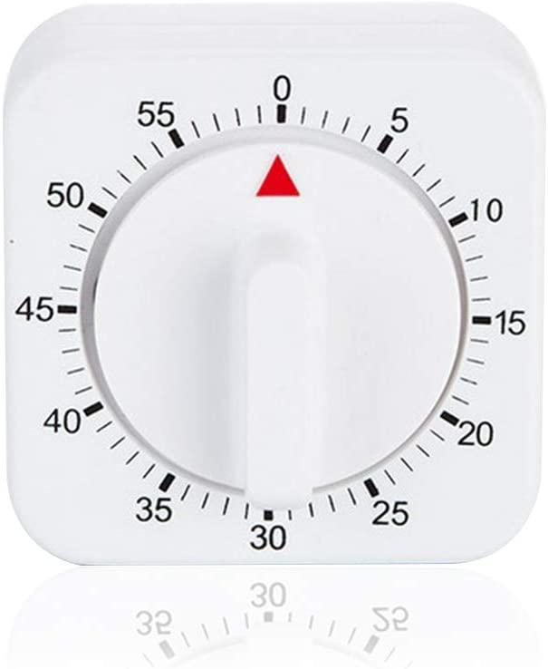 Demarkt Mechanical Kitchen Timer/60 Mins/White