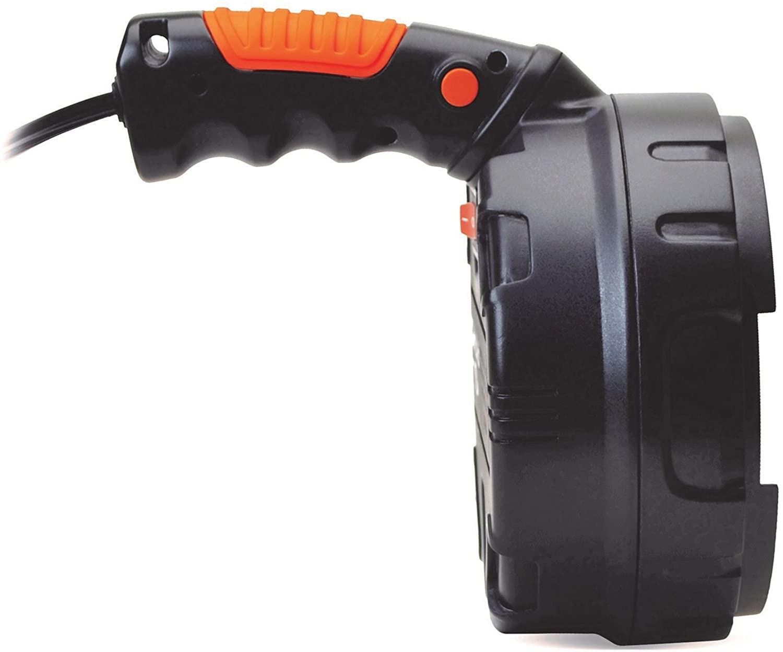 Cyclops Seeker-1500 Handheld Spotlight Halogen 12V Plug-in Polymer Black