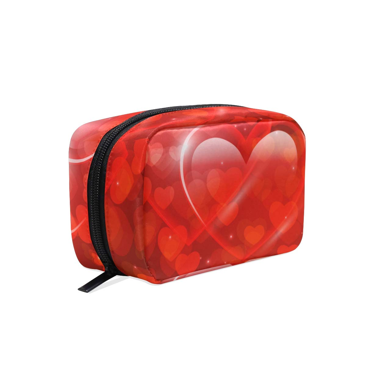Cosmetic Makeup Bag Pouch Valentines Glitter Love Heart Clutch
