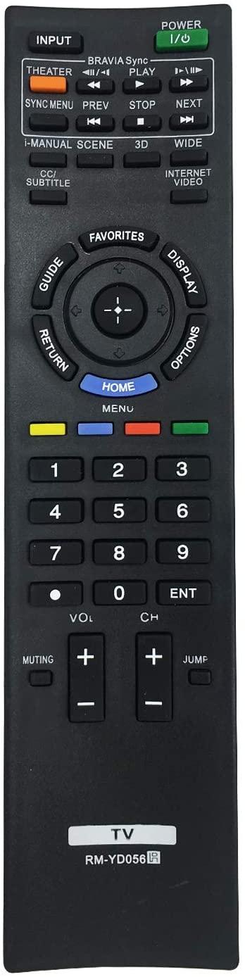 MYHGRC New Replacement for LCD LED HD Smart TV Sony RM-YD056, KDL40HX800 KDL46HX800 KDL55HX800 Sony Bravia Remote Control