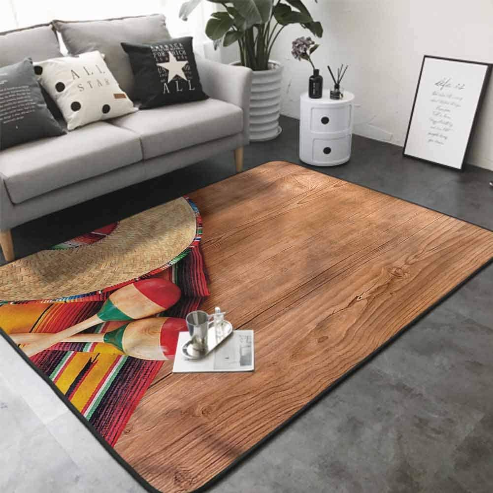 Office Chair Floor Mat Foot Pad Wooden Board Latin Symbols 80