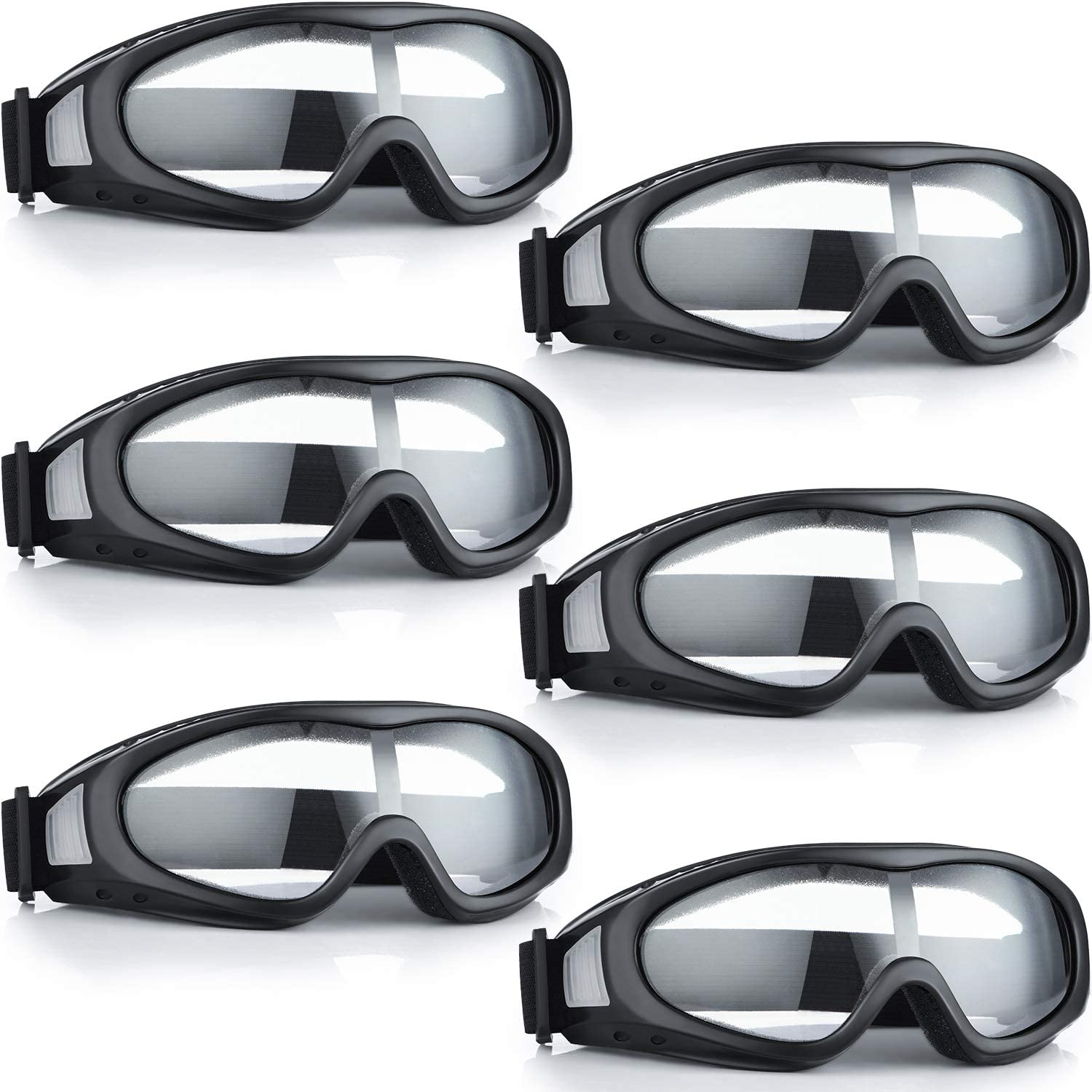 6 Pieces Motorcycle Goggles Safety Goggles Off Road Racing Goggle Riding Glasses Compatible with ATV Dirt Bike for Men Women Kids Youth Adult