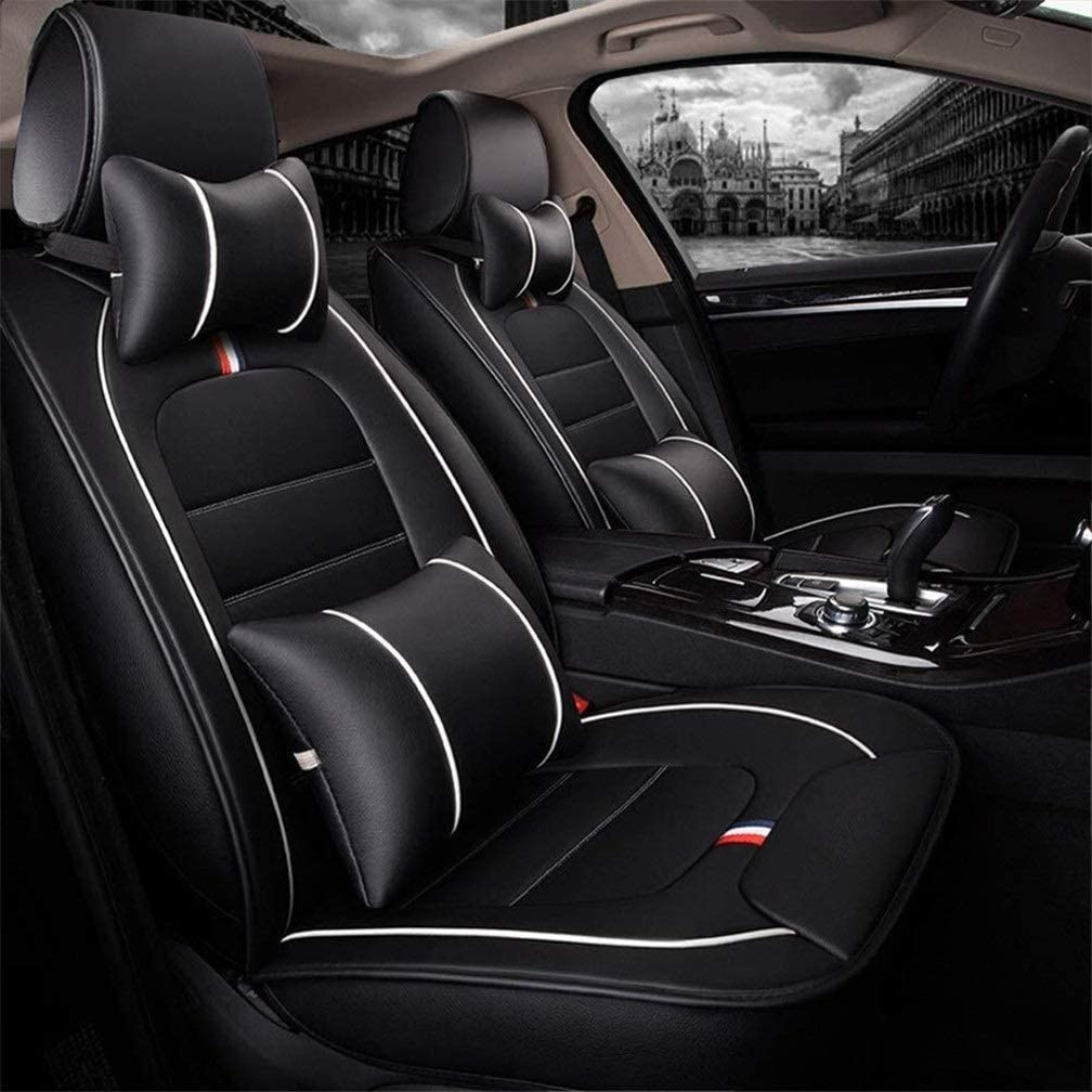 XZWYB for 5 Seats Car Automotive Universal Suitable for Year-Round Use PU Leather Car Seat Covers Full Set Fit Seat Covers Seat Cushion Cover